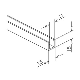 aluminium profile. Black Bedroom Furniture Sets. Home Design Ideas