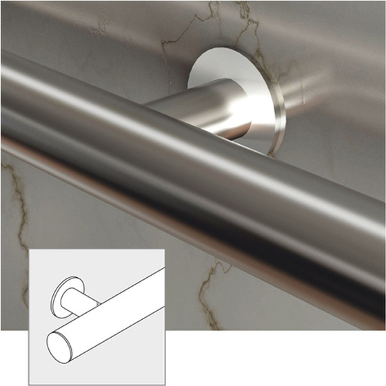 Gut bekannt Handlauf Komplett-Set 320-1 - Edelstahl-Design, Länge 2,5 m - rowagu. AO68